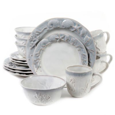 Coastal Dinnerware With Seashells