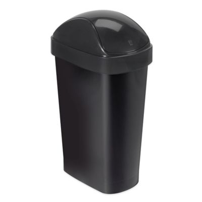 Umbra® Flippa Trash Can in Black
