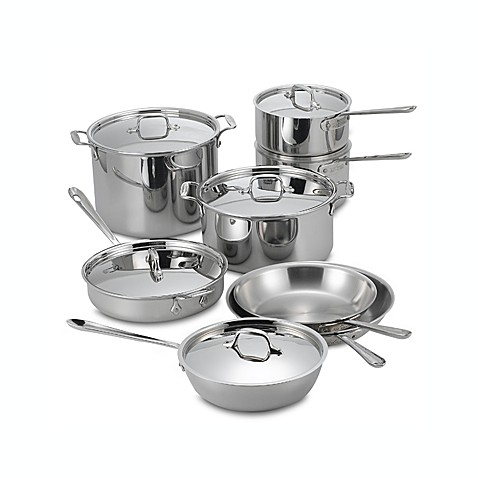 All-Clad Stainless Steel 14-Piece Cookware Set and Open Stock