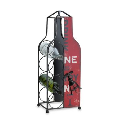 Elements Wine Bottle Holder in Red