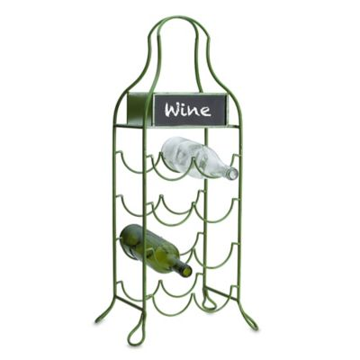Elements Chalkboard Wine Holder in Green