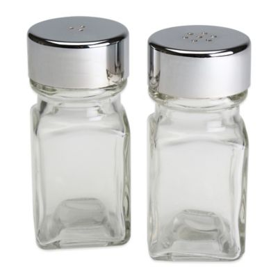 Olde Thompson Square Glass Salt & Pepper Shaker Set