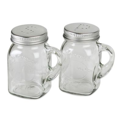 Olde Thompson Glass Mason Jar Salt & Pepper Shaker Set