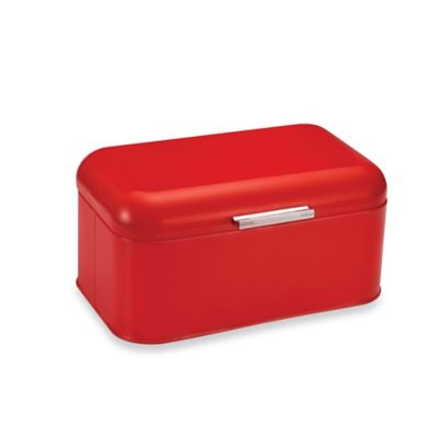 Polder Mini Retrobin Bread Box in Red