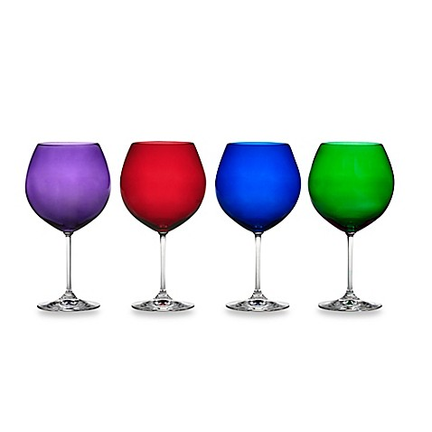 Buy marquis by waterford vintage jewels wine glasses set of 4 from bed bath beyond - Waterford colored wine glasses ...