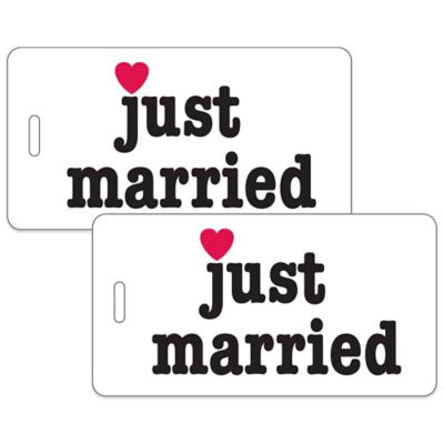 Just Married 2-Piece Bag Tag Gift Set