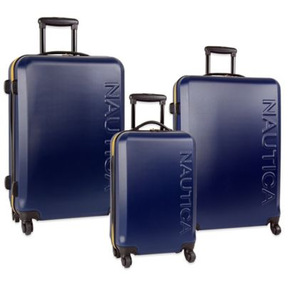 Nautica® 3-Piece Ahoy Luggage Set in Navy