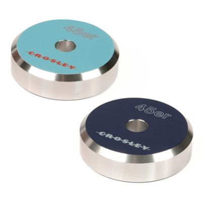 Crosley 45er Aluminum 45 Adapter in Blue