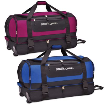 Pacific Gear 30-Inch Drop-Bottom Rolling Duffel in Pink