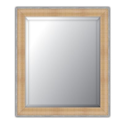 Elsa L Beveled 18-Inch x 22-Inch Wall Mirror in Natural/Pewter