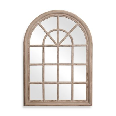 Howard Elliott® Fenetre Mirror in Taupe