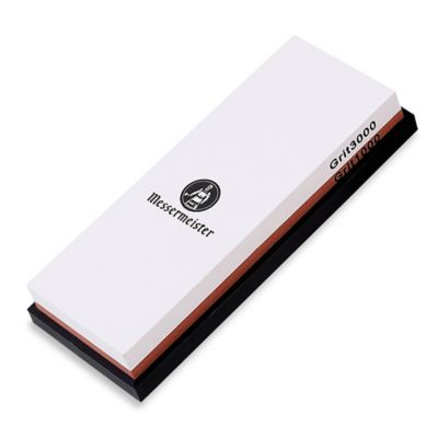 Messermeister 2-Sided 1000/3000 Grit Water Sharpening Stone with Silicone Base Storage