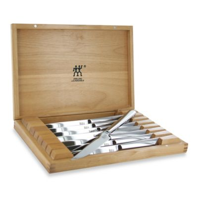 Zwilling® J.A. Henckels 8-Piece Stainless Steel Steak Knife Set in Presentation Box
