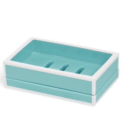 Kassatex Soho Soap Dish in Blue