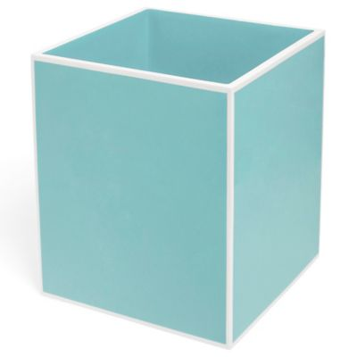 Kassatex Soho Wastebasket in Blue