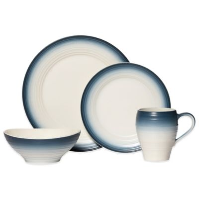 Mikasa® Swirl Ombre 4-Piece Dinnerware Set in Blue