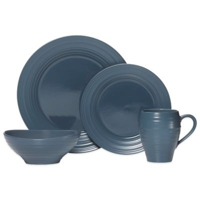 Mikasa® Swirl 4-Piece Dinnerware Set in Blue