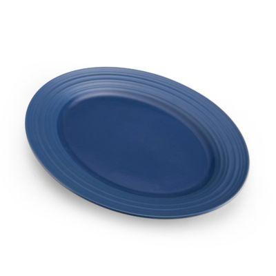 Mikasa® Swirl Oval Platter in Blue