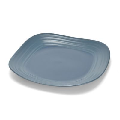 Mikasa® Swirl Square 11-Inch Dinner Plate in Blue