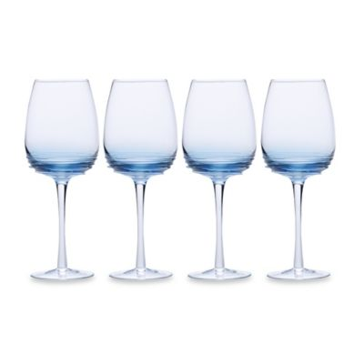 Mikasa® Swirl Goblets in Cobalt (Set of 4)