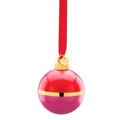 kate spade new york Be Merry Be Bright Christmas Ornament in Pink/Orange