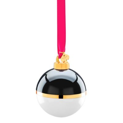 kate spade new york Be Merry Be Bright 2-1/2-Inch Porcelain Ornament In Black/Cream