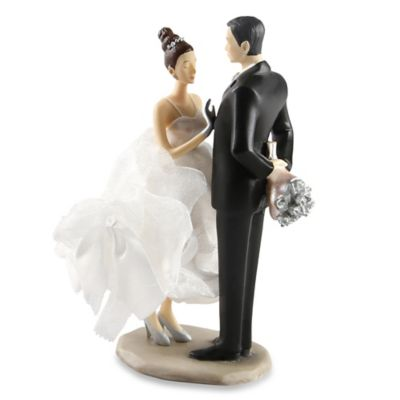 Ivy Lane Design Ty Wilson Caucasian Bride and Groom Cake Topper