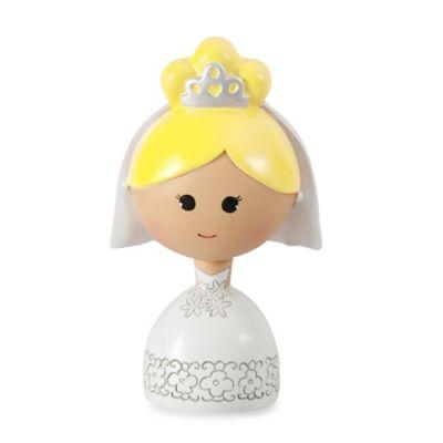 Ivy Lane Design™ Kokeshi Bride Figurine with Blond Hair/Fair Skin