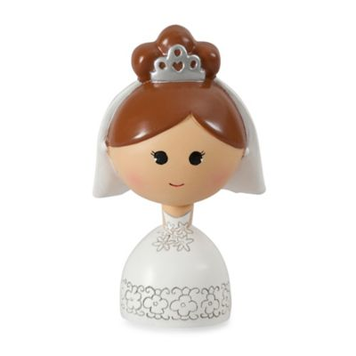 Ivy Lane Design™ Kokeshi Bride Figurine with Brown Hair/Fair Skin
