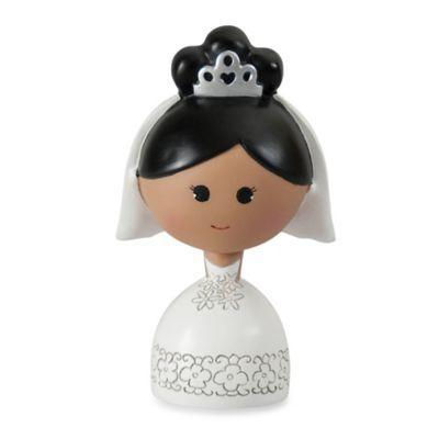 Ivy Lane Design™ Kokeshi Bride Figurine with Black Hair/Dark Skin