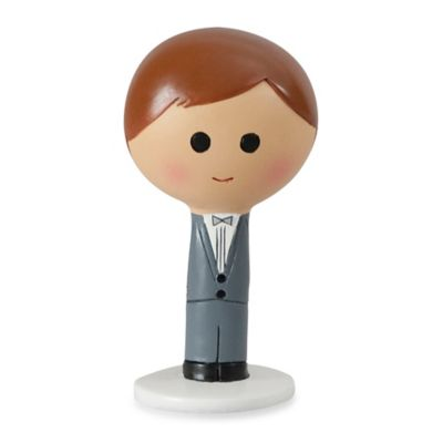 Ivy Lane Design™ Kokeshi Groom Figurine with Brown Hair/Fair Skin