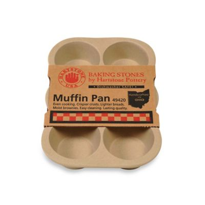 Hartstone Pottery 6-Cup Stone Muffin Pan
