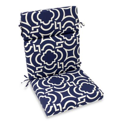 Outdoor High-Back Chair Cushion in Carmody