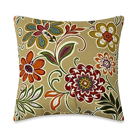 Buy Modern Floral Square Throw Pillows in Spice (Set of 2) from Bed Bath & Beyond