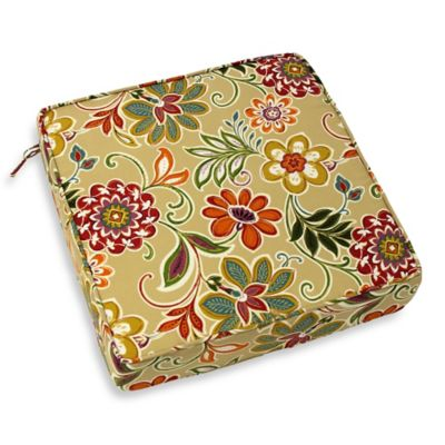 Modern Floral Deep Seat Cushion in Spice