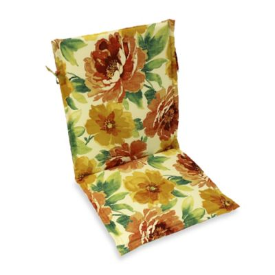 Outdoor Sling Back Chair Cushion in Muree