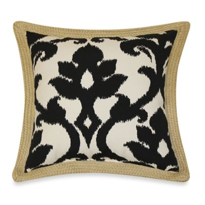 17-Inch x 17-Inch Outdoor Toss Pillows with Jute Trim in Slater (Set of 2)