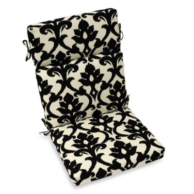 Outdoor High Back Cushion in Slater