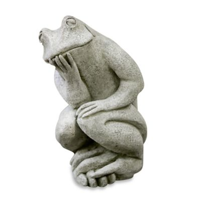 Campania Thinking Man's Frog Garden Statue