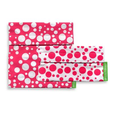 LunchSkins® Pink Confetti Reusable Sandwich and Snack Bags (Set of 2)