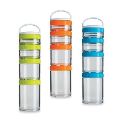 BlenderBottle® GoStak™ Starter 4Pak in Blue