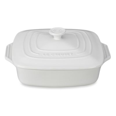 Le Creuset® 2.75 qt. Covered Square Casserole in White