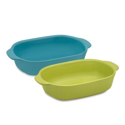 CW by CorningWare® 1.5-Quart Ceramic Baking Dish in Green