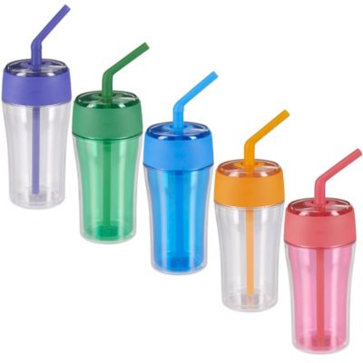 OXO Good Grips® 20-Ounce Tumbler with Silicone Straw in Grass Green