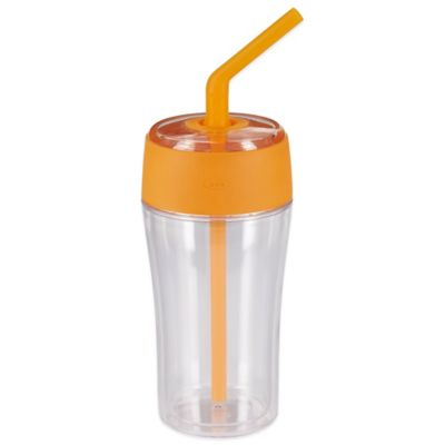 OXO Good Grips® 20-Ounce Tumbler with Silicone Straw in Tangerine Orange