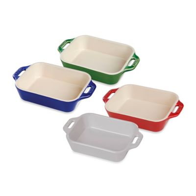 Staub 2.5-Quart Rectangular Baking Dish in White