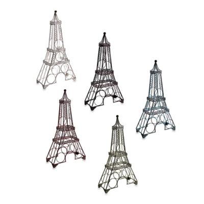 Eiffel Tower Wine Rack in Red