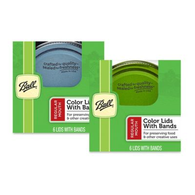 Ball® Design Series Regular Mouth 6-Pack Jar Lids with Bands in Blue