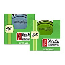 Ball® Design Series Regular Mouth 6-Pack Jar Lids with Bands