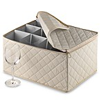 Canvas Stemware Chest